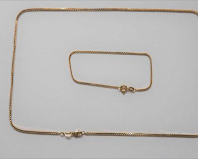 10k yellow gold chain and bracelet