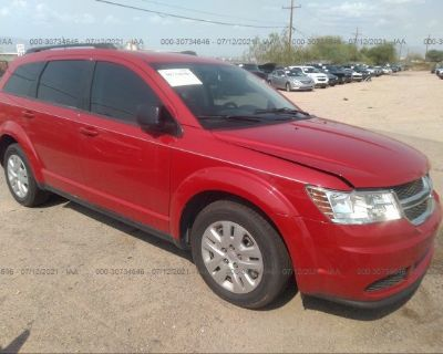Salvage Red 2018 Dodge Journey