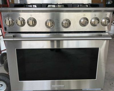 Gas cooktop oven