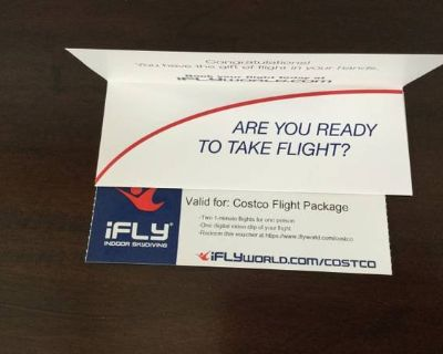 Costco Flight Package at iFly World