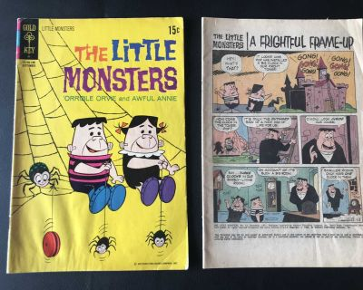 Sept. 1971 Gold Key The Little Monsters Vintage Comic Book Plus a Partial One