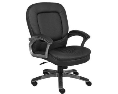 Boss 7106 Black Mid Back Swivel Chair Org. 12 Quantity