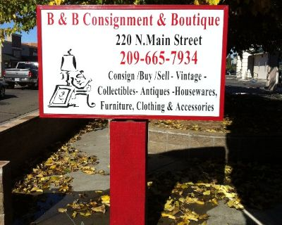 New Consignment Store in Manteca Ca....B & B Consignments & Boutique 220 N. Main Street Manteca Ca 95336