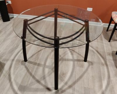 Modern glass round dining table (no chairs)