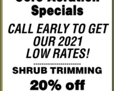 THE LAWN CREW Core Aeration Sp...