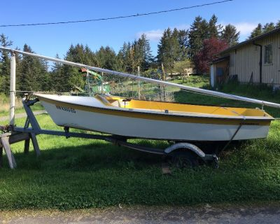 14' Sailboat with Titled Trailer- Must Sell!