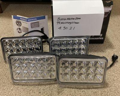 Partsam (4) LED Headlights. Fits 79-86 Mustangs. $50