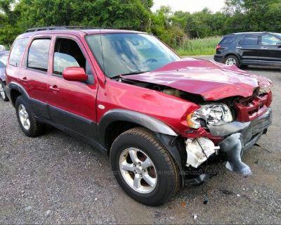 Salvage Burgundy 2005 Mazda Tribute