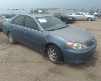 Salvage Blue 2002 Toyota Camry