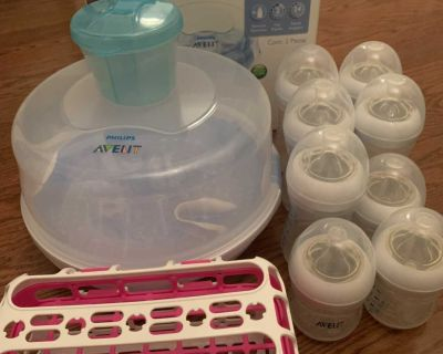 Avent Sterilizer with bottles