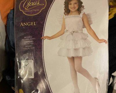 Girls Angel costume, Large (8-10)