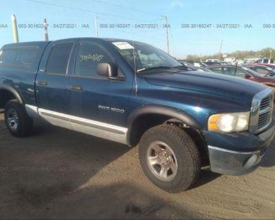 Salvage Dark Blue 2002 Dodge Ram 1500