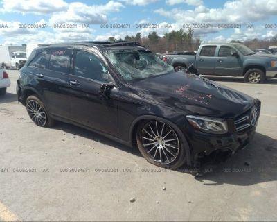 Salvage Black 2017 Mercedes-benz Glc