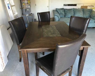 Ashley dining table with 4 chairs