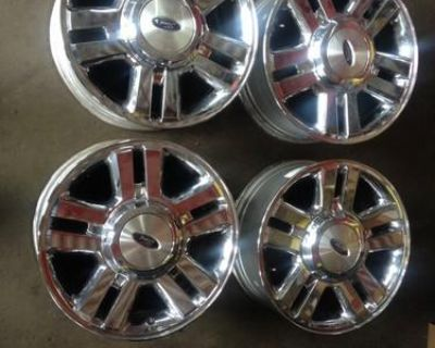 "4) 2004-'08 Ford F150 18"" Factory Oem Chrome Clad Alloy Wheels Rim 3559"