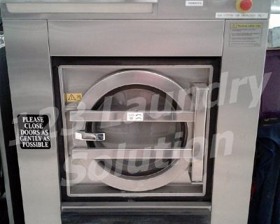 Maytag Front Load Washer Softmount OPL 50LB MFS50PNFVS 3PH Stainless Steel Used