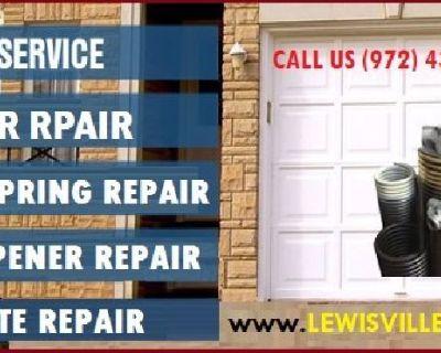 #1 Garage Door Spring Repair Lewisville, TX – Call 972-436-3794