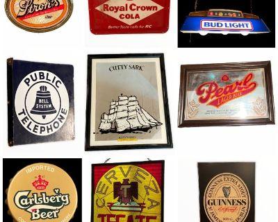 LARGE Memorial Area Online Estate Sale: Ethan Allen Furniture - Vintage Signs - Outdoor Furniture...