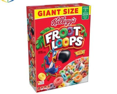 Cereal boxes for single serving and for double serving
