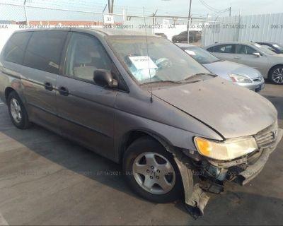 Salvage Gray 1999 Honda Odyssey