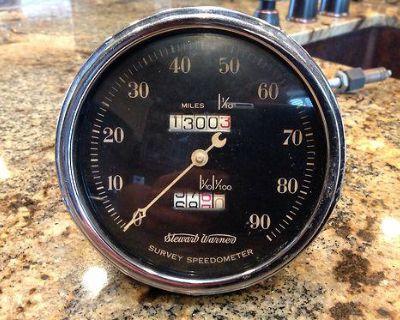 Vintage Stewart Warner Crescent Pointer Survey Speedometer Gauge For A 1932 Rod