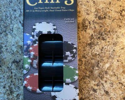 100 poker chip set
