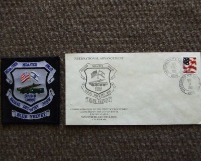 Commemorative Envelope and Cloth Uniform Patch for Scud Missiles Launched from Vandenberg AFB
