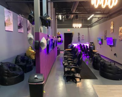 Creative Multi-Purpose Purple, Gray, Black Lounge, Conveniently Located Next to Kennesaw State, Kennesaw, GA