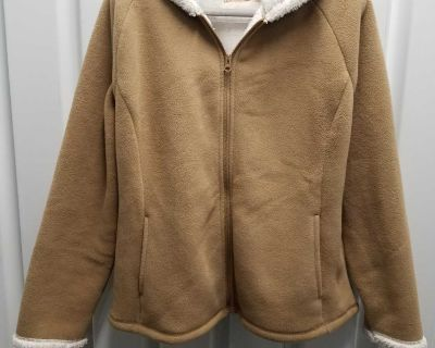 Faded Glory Sherpa style hooded jacket, Size L