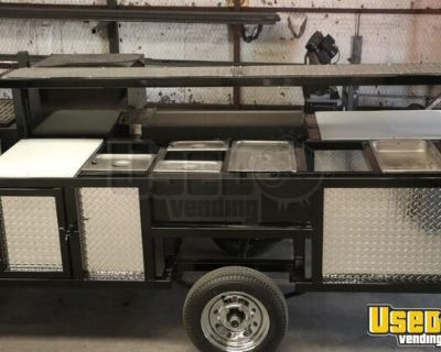 NEW - 4' x 11' Open Barbecue Smoker Pit Food Concession Trailer