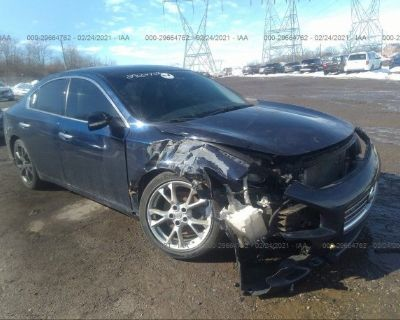 Salvage Dark Blue 2013 Nissan Maxima