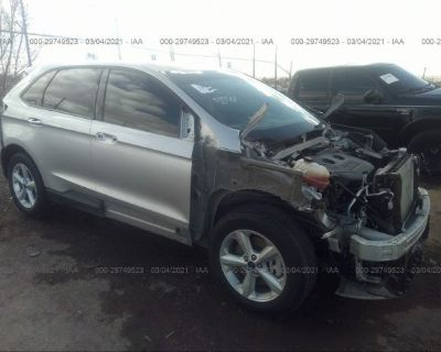 Salvage Silver 2018 Ford Edge