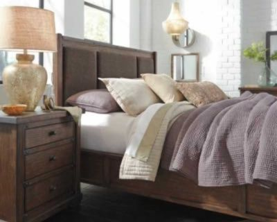 King sized Ashley s Furniture Zenfield bed