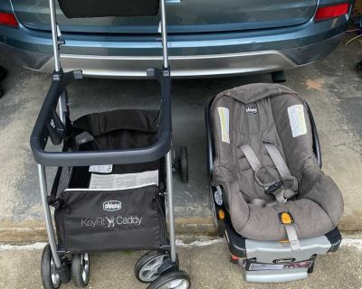 Chicco car seats, base and stroller