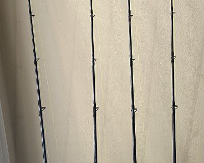 FS: 2 like new and 2 used Shimano TLD 25 s on like new shimano tallus 6 6 rods