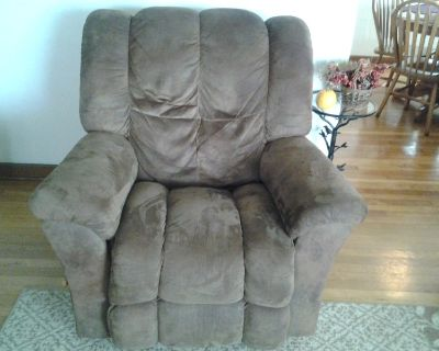 Lazy Boy micro suede brown chair, rocker/recliner