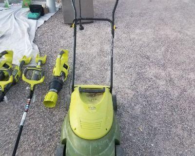 sunjoe corded lawnmower