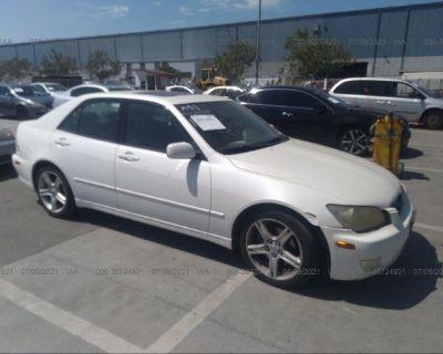 Salvage White 2001 Lexus Is 300