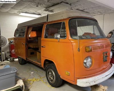 1974 Westfalia Pop Top Camper Bus