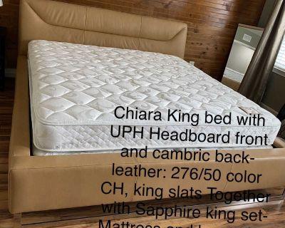 Chiara King bed with Sapphire king set Mattress