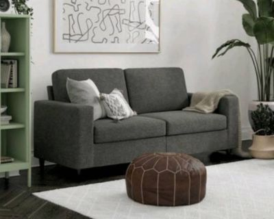 New grey Love seat still in box easy assembly