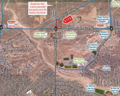 Emerging Rio Rancho Trade Area | Large Tract Retail Pad Site