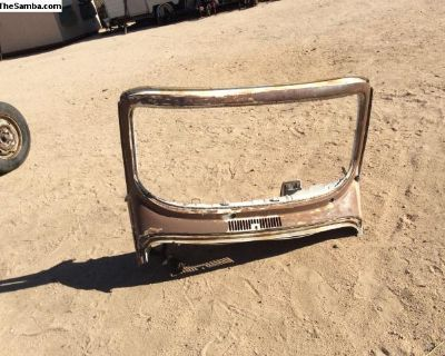 Super beetle convertible windshield frame/cowl
