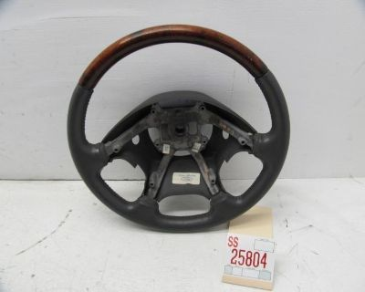 00 01 Lincoln Ls Left Driver Front Steering Wheel Leather Wooden 4 Spoke