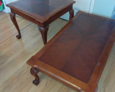 Coffee and side table pair