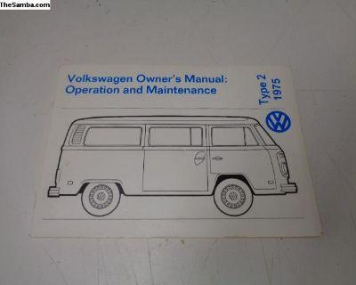 NOS Type 2 1975 Owner's Manual