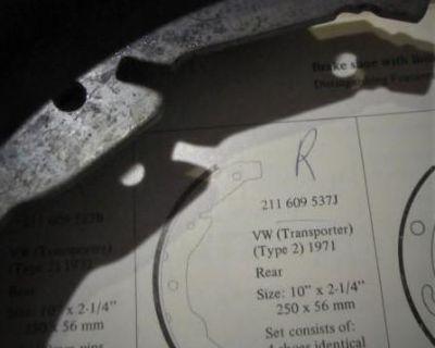 Brake Shoe Set Rear Riveted 1971:NOS/Exchange/Pads