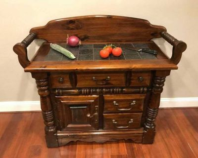 Gorgeous Chef's Buffet Table with Tiled Counter