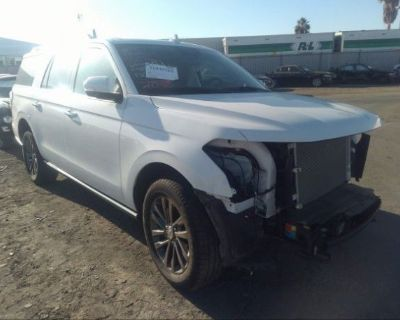 Salvage White 2020 Ford Expedition Max