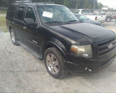 Salvage Black 2007 Ford Expedition